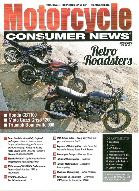 Motorcycle Consumer News - January 2016